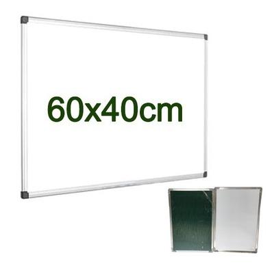 Pizarra Para Ambos Lados Acrilica Magnetica Y Tizza 60x40cm