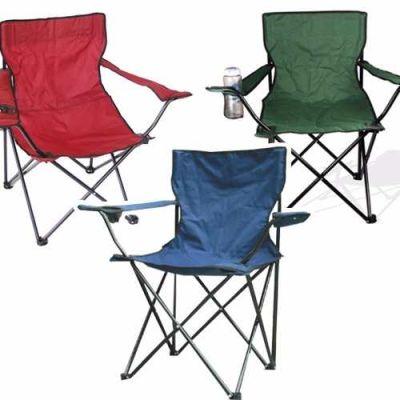 silla camping con porta vasos