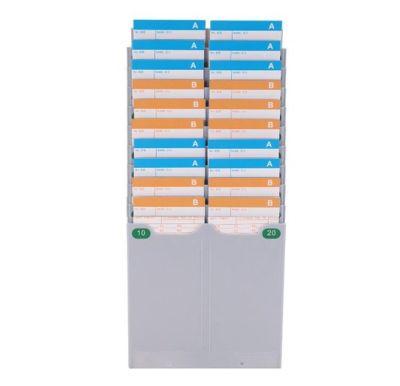 Tarjetero Plastico 20 Tarjetas  asistencia reloj Control Asistencia