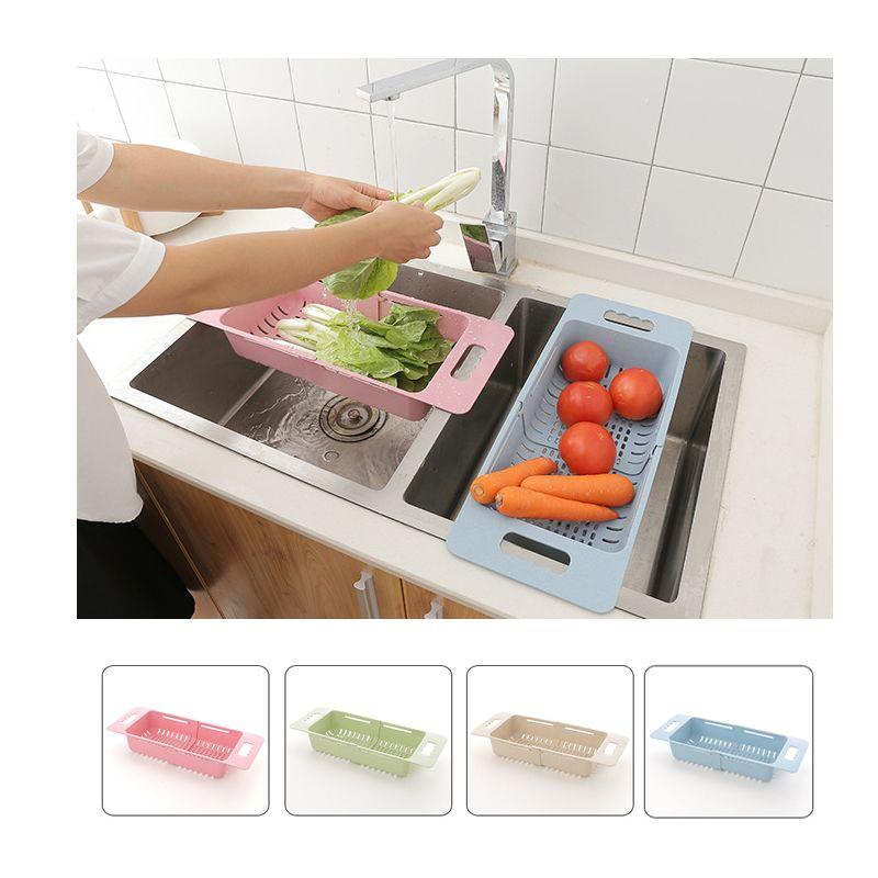 Colador Extensible Pp Lavaplato Cesta Cocina Fruta Verdura