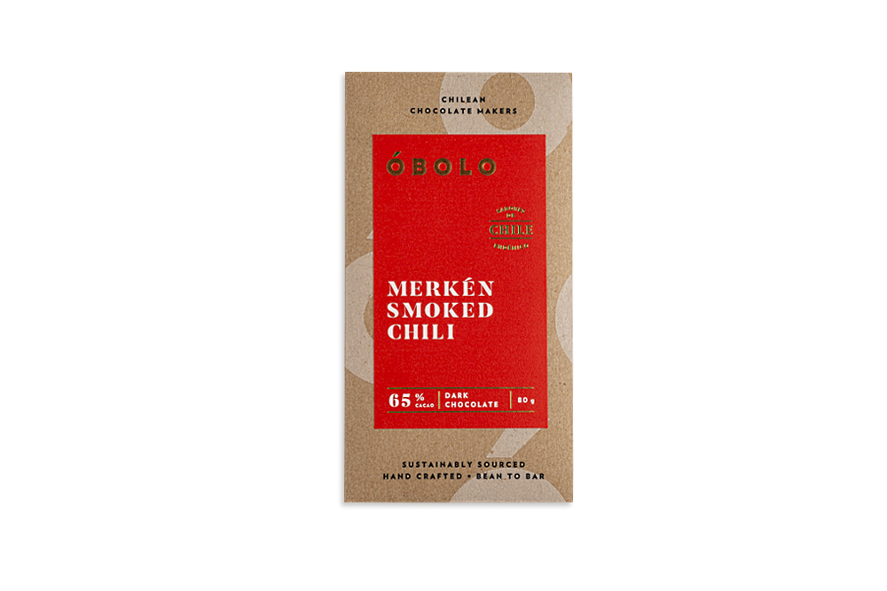 - CHOCOLATE MERKÉN SMOKED CHILI ÓBOLO 80 GRS.-