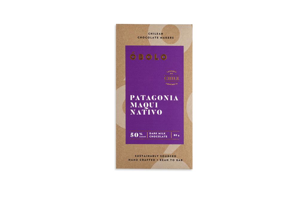 -CHOCOLATE PATAGONIA MAQUI NATIVO ÓBOLO 80 GRS.-