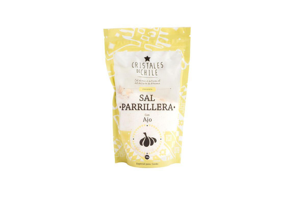 - SAL PARRILLERA CON AJO CRISTALES DE CHILE 450 GRS. -