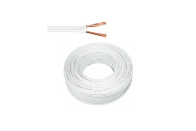 CABLE 2X24 COLOR BLANCO AWG PARALELO ROLLO 100 METROS