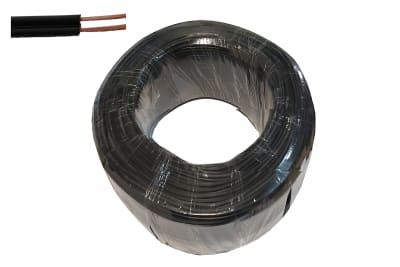 CABLE PARALELO 2X24 AWG COLOR NEGRO ROLLO 100 METROS