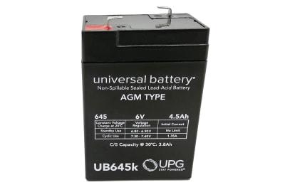 BATERIA 6V 4.5 AMPERES C/NORMA UL UB645