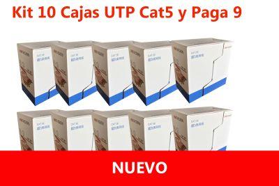 KIT 9 CAJAS UTP CAT5 DS-1LN5E-E/E + 1 DE REGALO