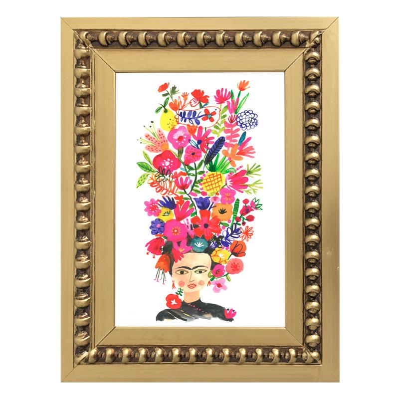 Mini Frida Kahlo Flores