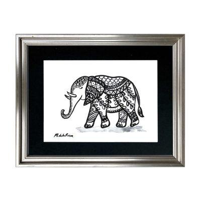 Ilustración Tinta Elefante1
