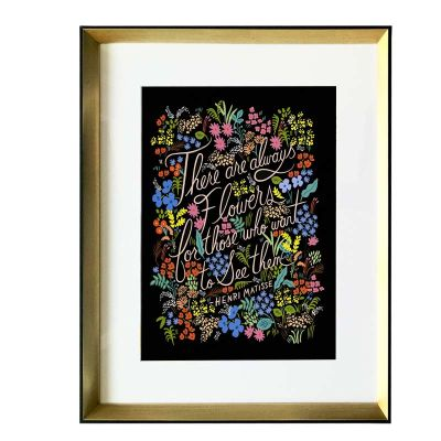 Flores & Letras Black