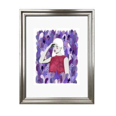 Mujer en hojas2