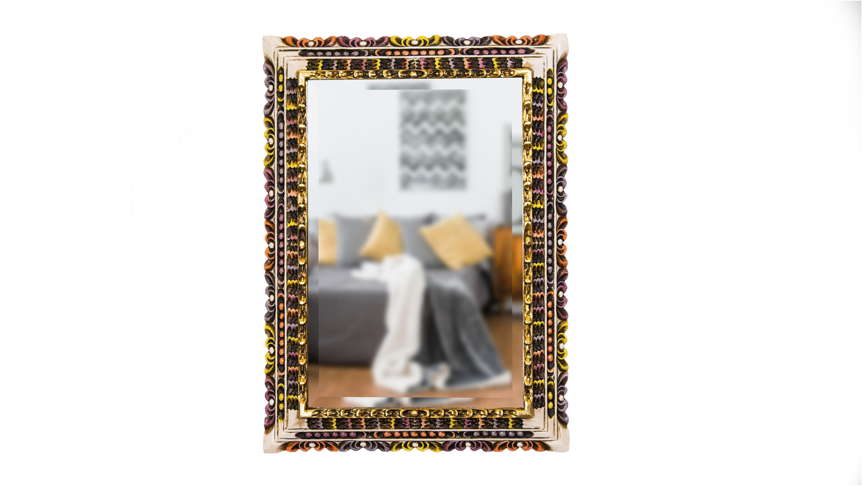 Espejo marco roble cusqueño - Tienda Web Mariacuadros