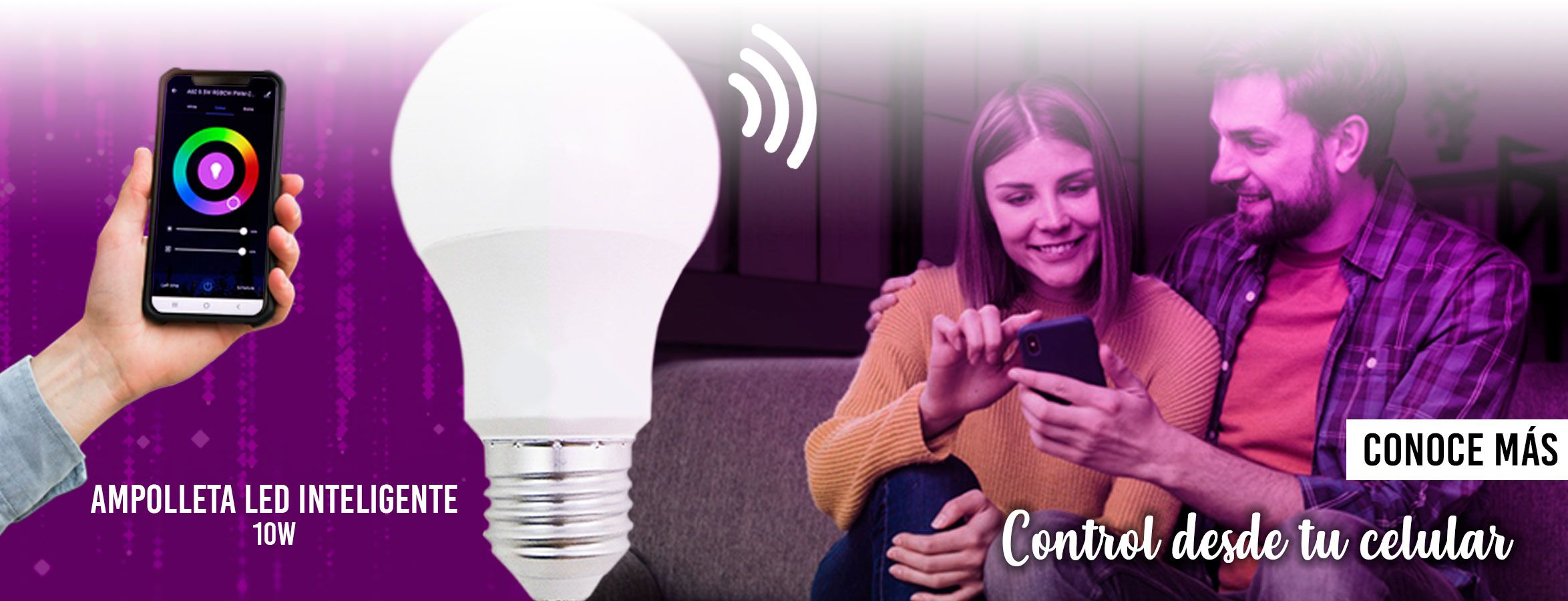 AMPOLLETA LED SMART BRIGHT A60 WIFI 10W - RGB