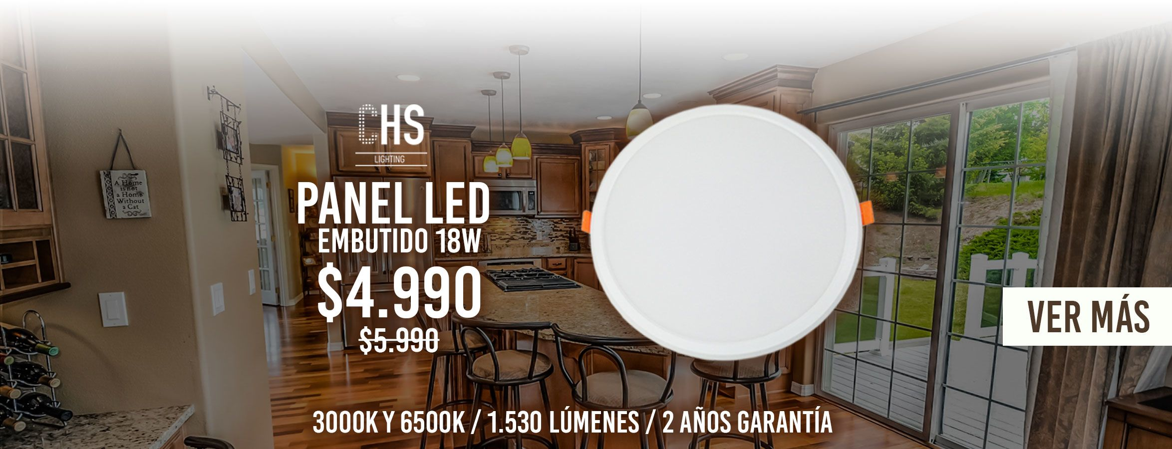 PANEL LED EMBUTIDO 18W - CHS