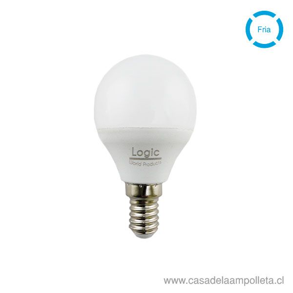 AMPOLLETA LED MINI BOLA G45 4W E14 - BLANCO FRÍO (6500K)
