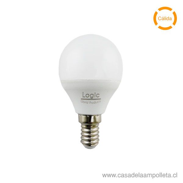 AMPOLLETA LED MINI BOLA G45 4W E14 - BLANCO CÁLIDO (3000K)