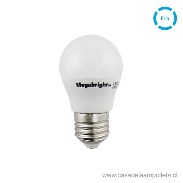 AMPOLLETA LED MINI BOLA G45 5W E27 - BLANCO FRIO (6000K)