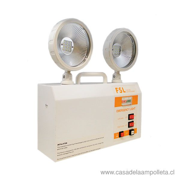 LAMPARA DE EMERGENCIA LED DOS FOCOS 5W