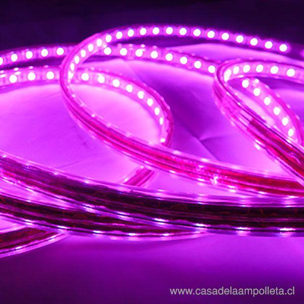 CINTA LED 5050 220V ROLLO  5 MTS CON SILICONA - RGB