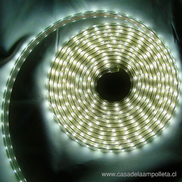 CINTA LED 5050 220V POR METRO CON SILICONA - BLANCO FRÍO (6000K)