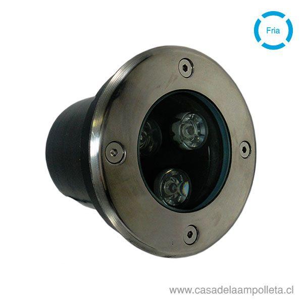 FOCO LED DE PISO 3X1W - BLANCO FRÍO (6000K)