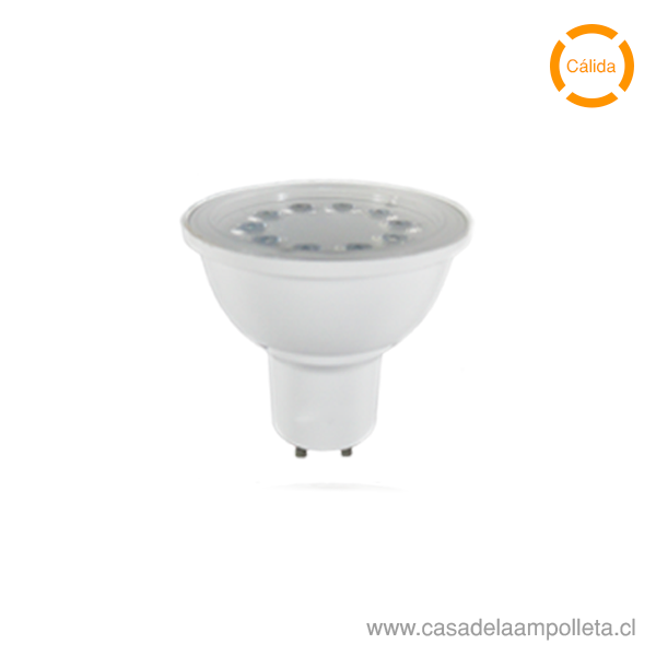 AMPOLLETA LED GU10 5W - BLANCO CÁLIDO (2700K)