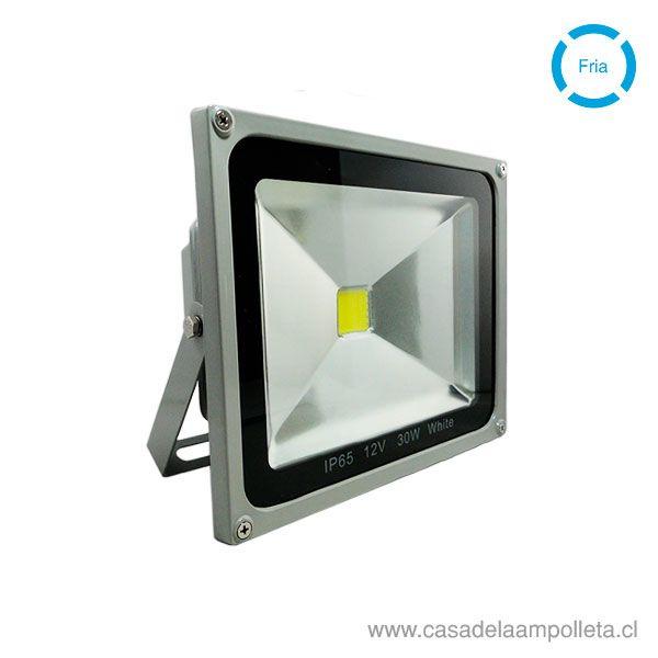 PROYECTOR LED COB 12V-24V 30W GRIS - BLANCO FRÍO (6500K)
