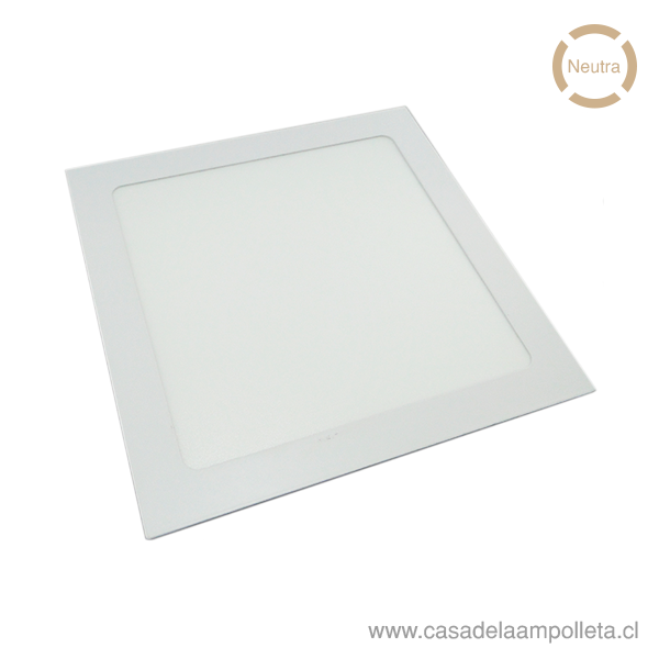 PANEL LED CUADRADO EMBUTIDO 18W - BLANCO NEUTRO (4300K)