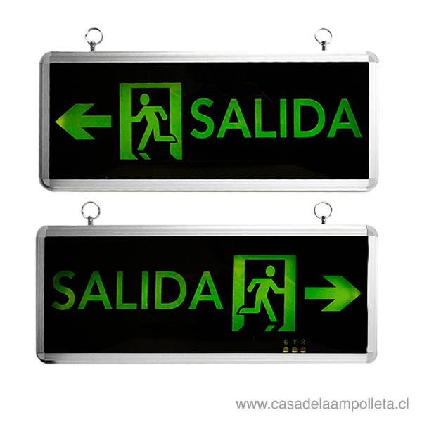 SEÑALETICA DE SALIDA LED CON FLECHA 1,5W - DOBLE
