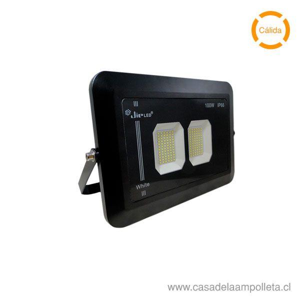 PROYECTOR LED PLANO ANTIVANDÁLICO 100W - BLANCO CÁLIDO (3500K)
