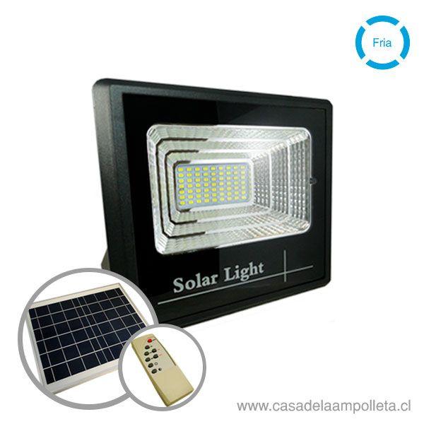 PROYECTOR LED 100W CON PANEL SOLAR Y CONTROL REMOTO - BLANCO FRÍO (6500K)