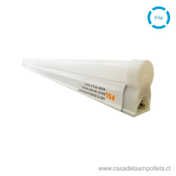 EQUIPO LED LINEAL T5 8W 60CM - BLANCO FRÍO (6500K)