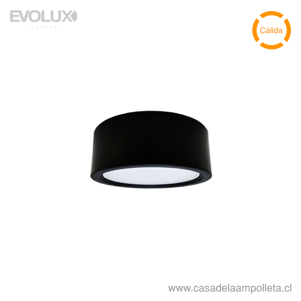 PANEL LED WSLITE S SLIM 6W 120MM NEGRO IP54 - BLANCO CÁLIDO (3000K)