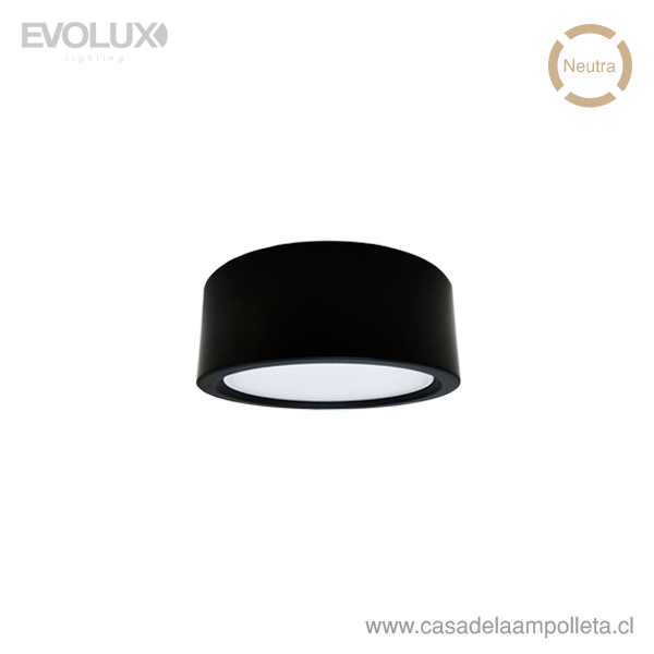 PANEL LED WSLITE S SLIM 6W 120MM NEGRO IP54 - BLANCO NEUTRO (4000K)