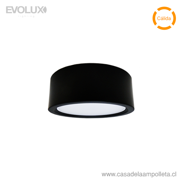 PANEL LED WSLITE S SLIM 25W 190MM NEGRO IP54 - BLANCO CÁLIDO (3000K)