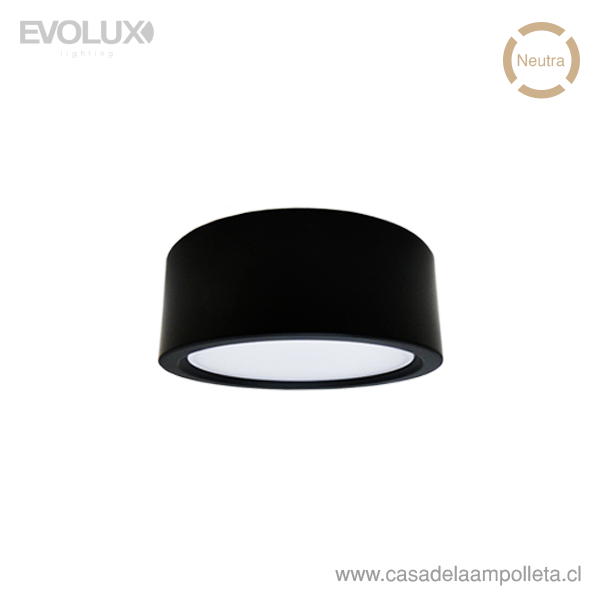 PANEL LED WSLITE S SLIM 22W 190MM NEGRO IP54 - BLANCO NEUTRO (4000K)
