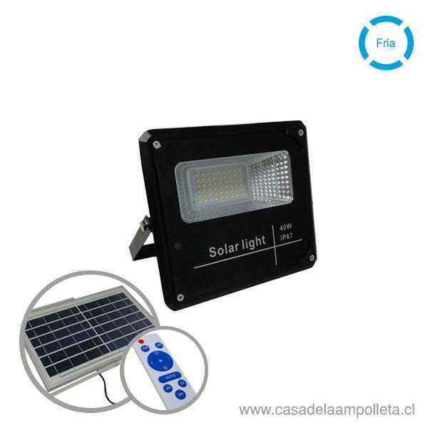 PROYECTOR LED 40W CON PANEL SOLAR Y CONTROL REMOTO (BLANCO FRÍO 6500K) - L.A. POWER