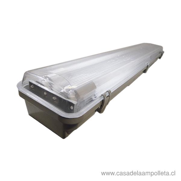 EQUIPO ESTANCO PARA TUBO LED 2X9W - VELLMAX