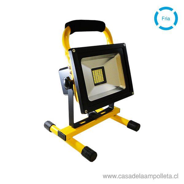 PROYECTOR LED RECARGABLE 20W - BLANCO FRÍO (6000K)