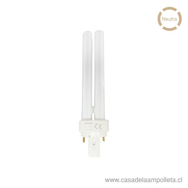 AMPOLLETA PL-C 2 PINES 18W - BLANCO NEUTRO (4000K)