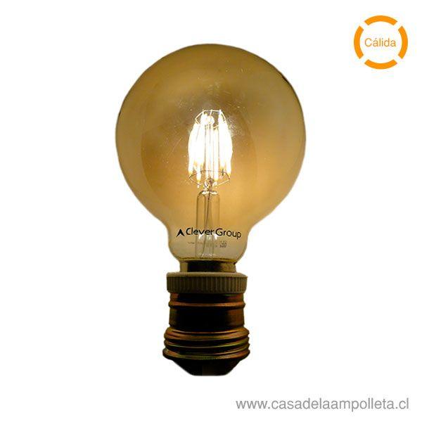 AMPOLLETA LED VINTAGE GLOBO 6W - CÁLIDA (2200K)