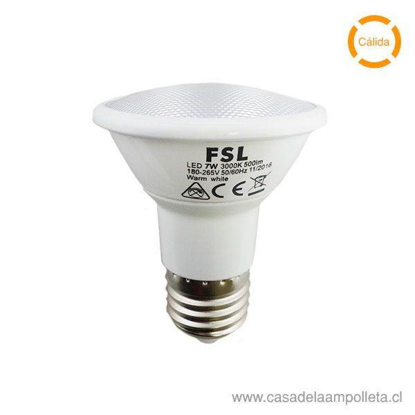 AMPOLLETA LED PAR20 7W - BLANCO CÁLIDO (3000K)