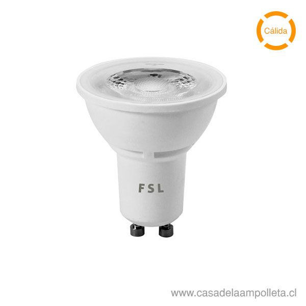 AMPOLLETA LED GU10 6W - BLANCO CÁLIDO (3000K)