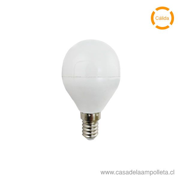 AMPOLLETA LED MINI BOLA 4W E14 - BLANCO CÁLIDO (3000K)