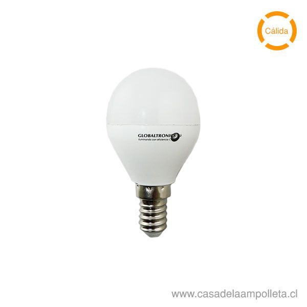 AMPOLLETA LED MINI BOLA 6W E14 - BLANCO CÁLIDO (2700K)