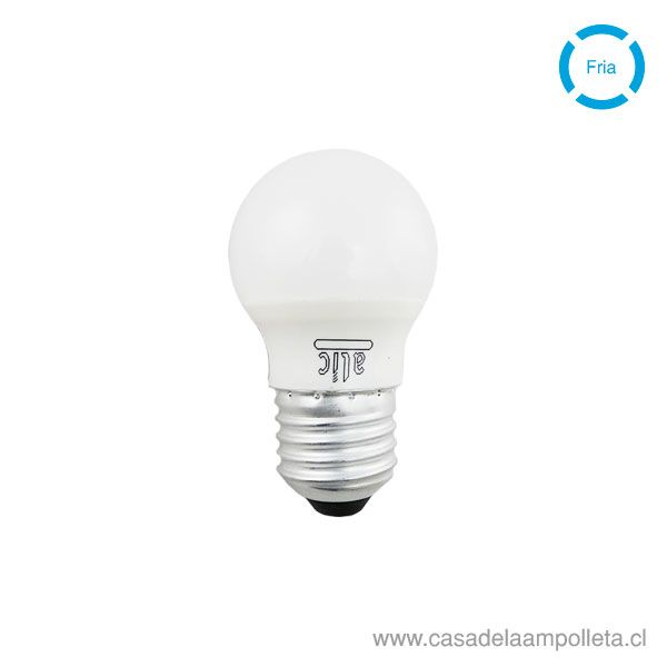 AMPOLLETA LED MINI BOLA 5W E27 - BLANCO FRIO (6000K)
