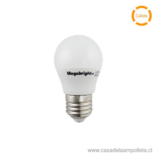 AMPOLLETA LED MINI BOLA G45 5W E27 - BLANCO CÁLIDO (3000K)