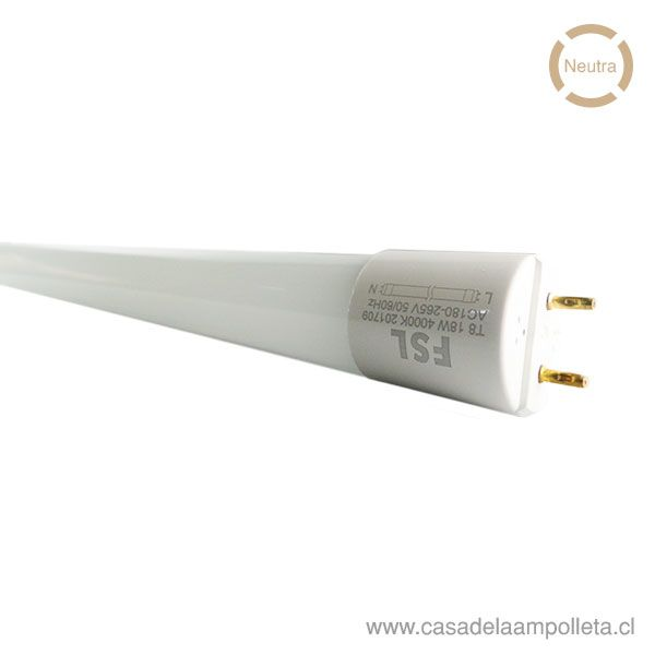 TUBO LED T8 18W 120CM - BLANCO NEUTRO (4000K)