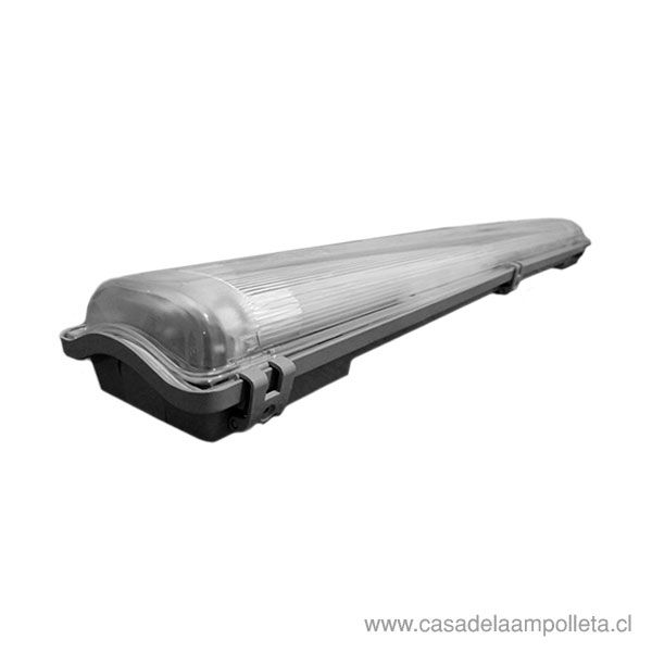 EQUIPO ESTANCO PARA TUBO LED 2X9W