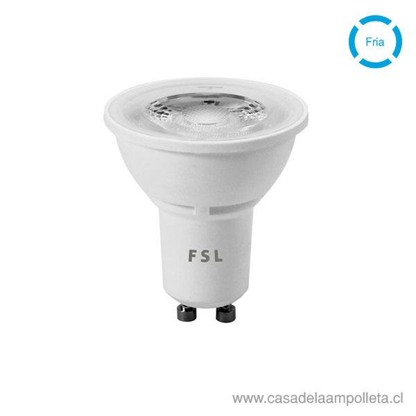 AMPOLLETA LED GU10 6W - BLANCO FRÍO (6500K)